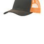 Port Authority Mens Adjustable Trucker Hat - Steel Grey/Neon Orange