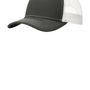 Port Authority Mens Adjustable Trucker Hat - Steel Grey/White