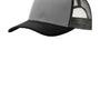 Port Authority Mens Adjustable Trucker Hat - Gusty Grey/Black/Steel Grey