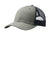 Port Authority C112 Mens Adjustable Trucker Hat Heather Grey/Navy Blue Front