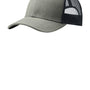 Port Authority Mens Adjustable Trucker Hat - Heather Grey/Rich Navy Blue