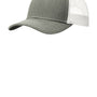 Port Authority Mens Adjustable Trucker Hat - Heather Grey/White