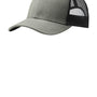Port Authority Mens Adjustable Trucker Hat - Heather Grey/Black