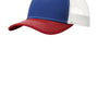 Port Authority Mens Adjustable Trucker Hat - Patriot Blue/Flame Red/White