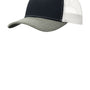 Port Authority Mens Adjustable Trucker Hat - Rich Navy Blue/Heather Grey/White