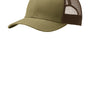 Port Authority Mens Adjustable Trucker Hat - True Khaki/Coffee Brown