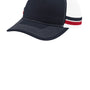 Port Authority Mens Adjustable Trucker Hat - Rich Navy Blue/Flame Red/White