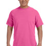 Comfort Colors Mens Short Sleeve Crewneck T-Shirt - Neon Pink