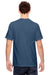 Comfort Colors C1717 Mens Short Sleeve Crewneck T-Shirt Navy Blue Back
