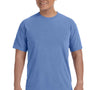 Comfort Colors Mens Short Sleeve Crewneck T-Shirt - Flo Blue