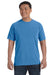 Comfort Colors C1717 Mens Short Sleeve Crewneck T-Shirt Royal Blue Caribe Front