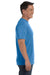 Comfort Colors C1717 Mens Short Sleeve Crewneck T-Shirt Royal Blue Caribe Side