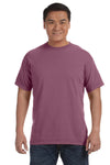 Comfort Colors C1717 Mens Short Sleeve Crewneck T-Shirt Berry Purple Front
