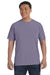 Comfort Colors C1717 Mens Short Sleeve Crewneck T-Shirt Wine Purple Front