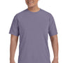 Comfort Colors Mens Short Sleeve Crewneck T-Shirt - Wine Purple