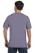 Comfort Colors C1717 Mens Short Sleeve Crewneck T-Shirt Wine Purple Back