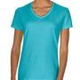 Comfort Colors Womens Short Sleeve V-Neck T-Shirt - Lagoon Blue