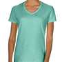 Comfort Colors Womens Short Sleeve V-Neck T-Shirt - Seafoam Green