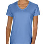 Comfort Colors Womens Short Sleeve V-Neck T-Shirt - Flo Blue