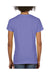 Comfort Colors C3199 Womens Short Sleeve V-Neck T-Shirt Violet Purple Back