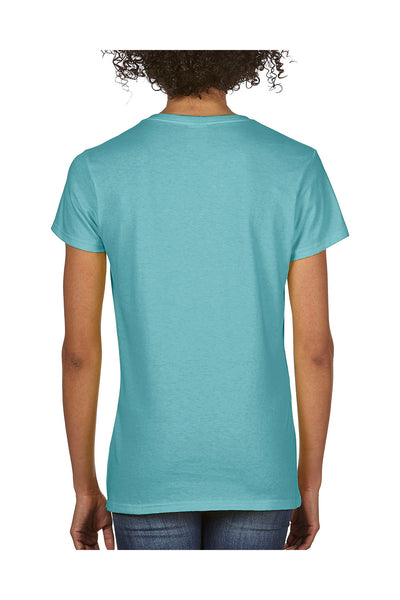 Comfort Colors C3199 Womens Short Sleeve V-Neck T-Shirt Chalky Mint Blue Back