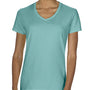 Comfort Colors Womens Short Sleeve V-Neck T-Shirt - Island Reef Green