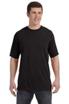 Comfort Colors C4017 Mens Short Sleeve Crewneck T-Shirt Black Front