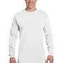 Comfort Colors Mens Long Sleeve Crewneck T-Shirt - White