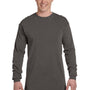 Comfort Colors Mens Long Sleeve Crewneck T-Shirt - Pepper Grey