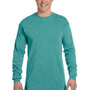 Comfort Colors Mens Long Sleeve Crewneck T-Shirt - Seafoam Green