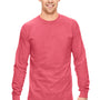Comfort Colors Mens Long Sleeve Crewneck T-Shirt - Watermelon Pink