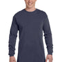 Comfort Colors Mens Long Sleeve Crewneck T-Shirt - Denim Blue