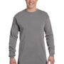 Comfort Colors Mens Long Sleeve Crewneck T-Shirt - Grey