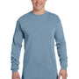 Comfort Colors Mens Long Sleeve Crewneck T-Shirt - Ice Blue