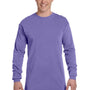 Comfort Colors Mens Long Sleeve Crewneck T-Shirt - Violet Purple