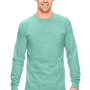 Comfort Colors Mens Long Sleeve Crewneck T-Shirt - Island Reef Green