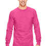 Comfort Colors Mens Long Sleeve Crewneck T-Shirt - Peony Pink