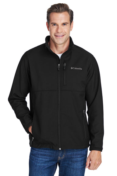 Columbia C6044 Mens Ascender Wind & Water Resistant Full Zip Jacket Black Front