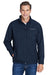 Columbia C6044 Mens Ascender Wind & Water Resistant Full Zip Jacket Navy Blue Front