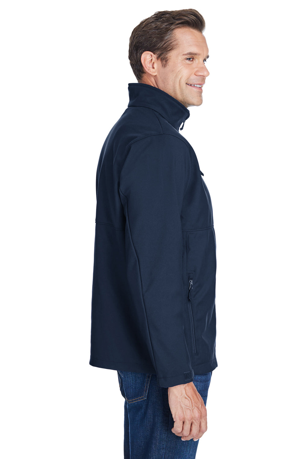 Columbia C6044 Mens Ascender Wind & Water Resistant Full Zip Jacket Navy Blue Side