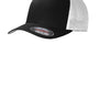 Port Authority Mens Stretch Fit Hat - Black/White