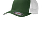 Port Authority Mens Stretch Fit Hat - Forest Green/White