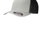 Port Authority Mens Stretch Fit Hat - Silver Grey/Black