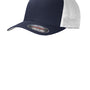 Port Authority Mens Stretch Fit Hat - True Navy Blue/White