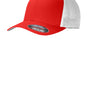 Port Authority Mens Stretch Fit Hat - True Red/White