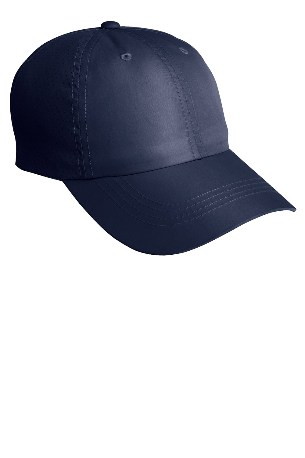 Port Authority C821 Mens Moisture Wicking Adjustable Hat Navy Blue Front