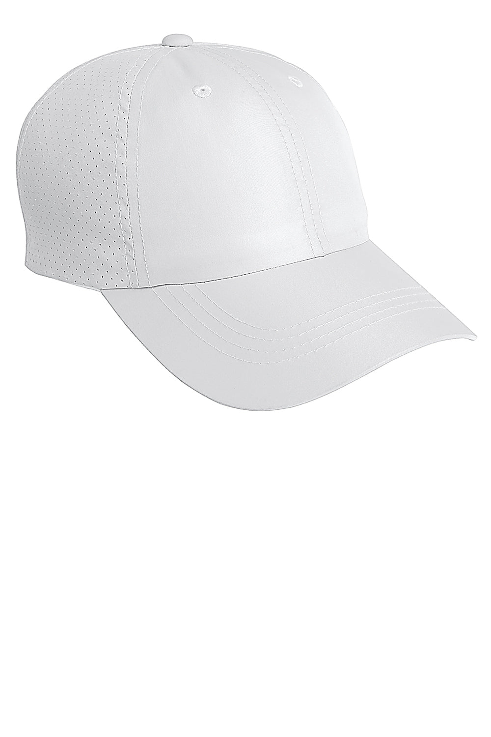 Port Authority C821 Mens Moisture Wicking Adjustable Hat White Front