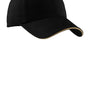 Port Authority Mens Adjustable Hat - Black/Khaki