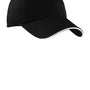 Port Authority Mens Adjustable Hat - Black/White