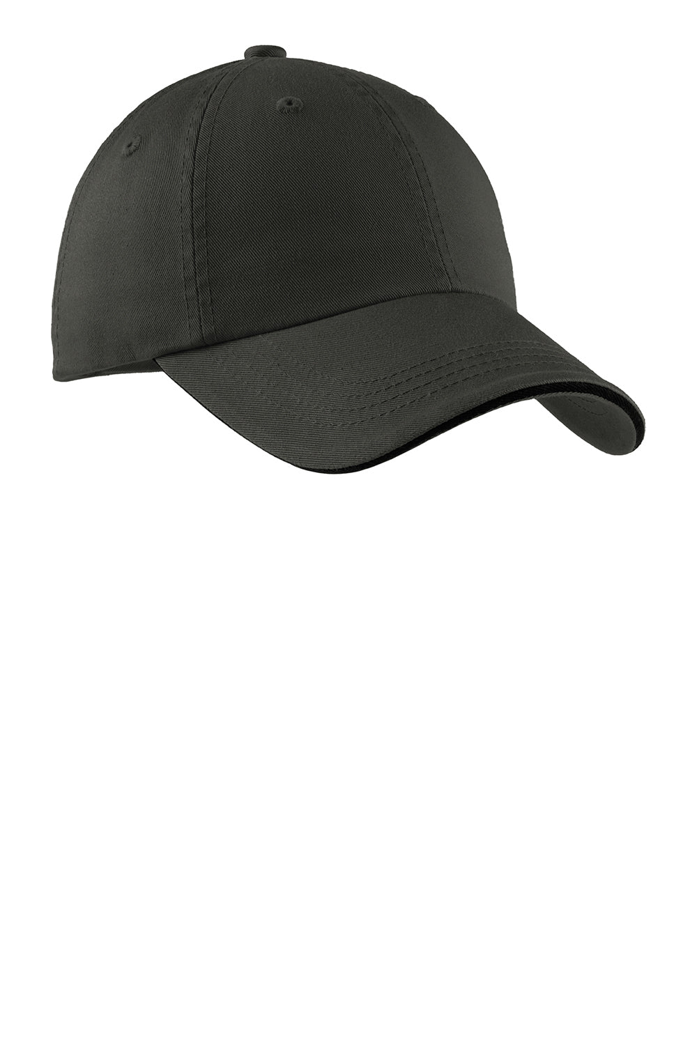 Port Authority C830 Mens Adjustable Hat Charcoal Grey/Black Front